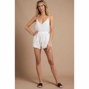 Pants - Scalloped Romper